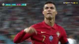 GOLO! Portugal, Cristiano Ronaldo aos 60', Portugal 2-2 França