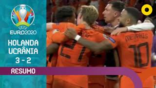 UEFA Euro (Fase de Grupos - Jornada 1): Resumo Países Baixos 3-2 Ucrânia