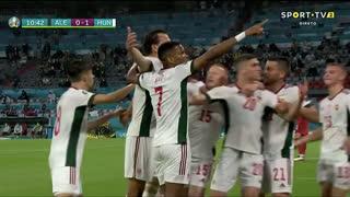 GOLO! Hungria, Á. Szalai aos 11', Alemanha 0-1 Hungria