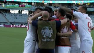 GOLO! Suíça, B. Embolo aos 49', Gales 0-1 Suíça