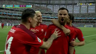 GOLO! Suíça, Seferovic aos 6', Suíça 1-0 Turquia