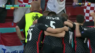 GOLO! Croácia, M. Pašalić aos 90'+2', Croácia 3-3 Espanha