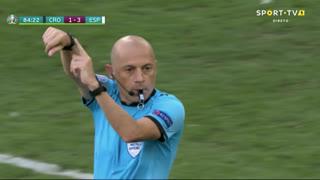 GOLO! Croácia, M. Oršić aos 85', Croácia 2-3 Espanha