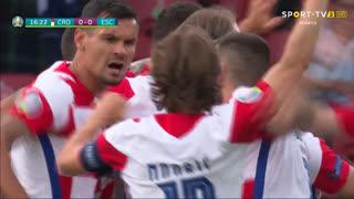 GOLO! Croácia, N. Vlašić aos 17', Croácia 1-0 Escócia