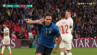 GOLO! Itália, F. Chiesa aos 60', Itália 1-0 Espanha