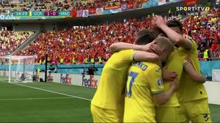 GOLO! Ucrânia, A. Yarmolenko aos 29', Ucrânia 1-0 Macedónia do Norte