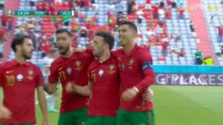GOLO! Portugal, Cristiano Ronaldo aos 15', Portugal 1-0 Alemanha