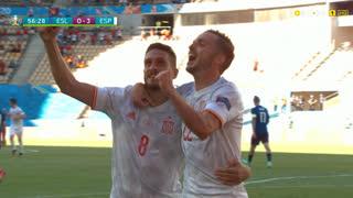 GOLO! Espanha, Pablo Sarabia aos 56', Eslováquia 0-3 Espanha