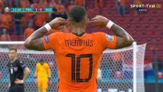 GOLO! Países Baixos, M. Depay aos 11', Países Baixos 1-0 Áustria