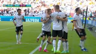 GOLO! Alemanha, R. Guerreiro (p.b.) aos 39', Portugal 1-2 Alemanha