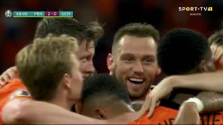GOLO! Países Baixos, W. Weghorst aos 58', Países Baixos 2-0 Ucrânia