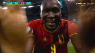 GOLO! Bélgica, R. Lukaku aos 10', Bélgica 1-0 Rússia