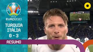 UEFA Euro (Fase de Grupos - Jornada 1): Resumo Turquia 0-3 Itália