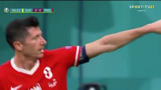 GOLO! Polónia, Lewandowski aos 61', Suécia 2-1 Polónia