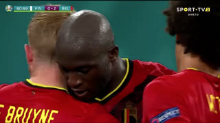 GOLO! Bélgica, R. Lukaku aos 81', Finlândia 0-2 Bélgica