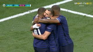 GOLO! França, Benzema aos 57', França 1-1 Suíça