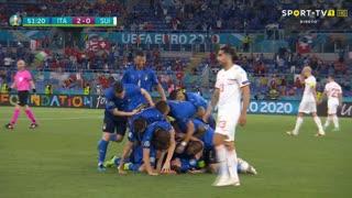 GOLO! Itália, M. Locatelli aos 52', Itália 2-0 Suíça