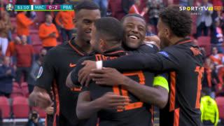 GOLO! Países Baixos, G. Wijnaldum aos 51', Macedónia do Norte 0-2 Países Baixos