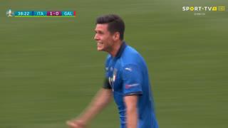 GOLO! Itália, M. Pessina aos 39', Itália 1-0 Gales