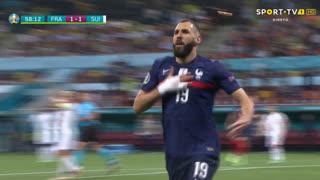 GOLO! França, Benzema aos 59', França 2-1 Suíça