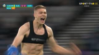 GOLO! Ucrânia, A. Dovbyk aos 120'+1', Suécia 1-2 Ucrânia