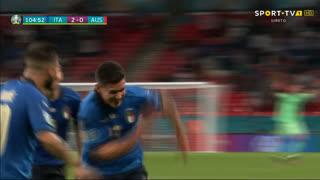 GOLO! Itália, M. Pessina aos 105', Itália 2-0 Áustria