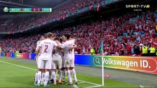 GOLO! Dinamarca, J. Mæhle aos 88', Gales 0-3 Dinamarca