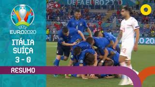 UEFA Euro (Fase de Grupos - Jornada 2): Resumo Itália 3-0 Suíça