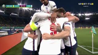 GOLO! Inglaterra, H. Kane aos 4', Ucrânia 0-1 Inglaterra