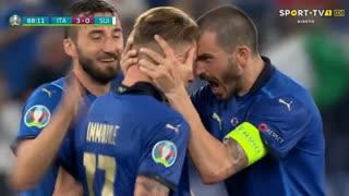 GOLO! Itália, C. Immobile aos 89', Itália 3-0 Suíça