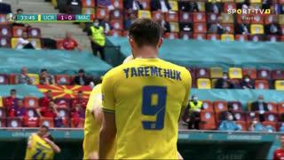 GOLO! Ucrânia, R. Yaremchuk aos 34', Ucrânia 2-0 Macedónia do Norte