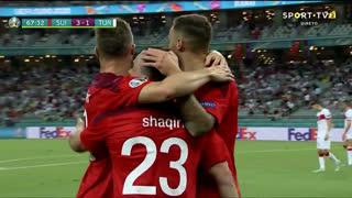 GOLO! Suíça, X. Shaqiri aos 68', Suíça 3-1 Turquia
