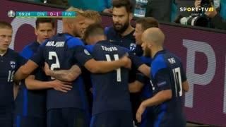 GOLO! Finlândia, J. Pohjanpalo aos 59', Dinamarca 0-1 Finlândia