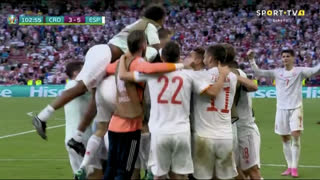 GOLO! Espanha, Mikel Oyarzabal aos 103', Croácia 3-5 Espanha