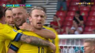 GOLO! Suécia, E. Forsberg aos 43', Suécia 1-1 Ucrânia