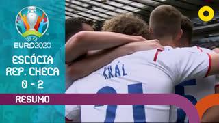 UEFA Euro (Fase de Grupos - Jornada 1): Resumo Escócia 0-2 República Checa