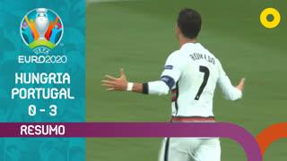 UEFA Euro (Fase de Grupos - Jornada 1): Resumo Hungria 0-3 Portugal