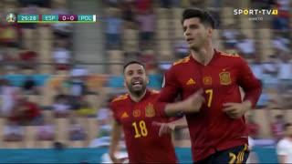 GOLO! Espanha, Álvaro Morata aos 25', Espanha 1-0 Polónia