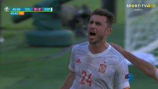GOLO! Espanha, A. Laporte aos 45'+3', Eslováquia 0-2 Espanha