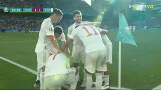 GOLO! Espanha, Azpilicueta aos 57', Croácia 1-2 Espanha