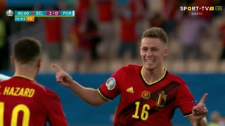 GOLO! Bélgica, T. Hazard aos 42', Bélgica 1-0 Portugal