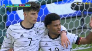 GOLO! Alemanha, K. Havertz aos 51', Portugal 1-3 Alemanha