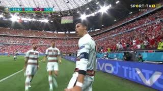 GOLO! Portugal, Cristiano Ronaldo aos 87', Hungria 0-2 Portugal