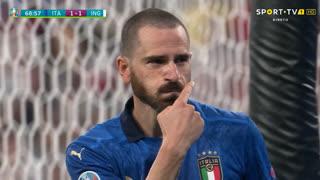 GOLO! Itália, L. Bonucci aos 67', Itália 1-1 Inglaterra