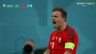 GOLO! Suíça, X. Shaqiri aos 68', Suíça 1-1 Espanha