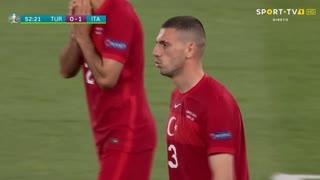 GOLO! Itália, M. Demiral (p.b.) aos 53', Turquia 0-1 Itália