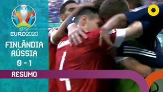 UEFA Euro (Fase de Grupos - Jornada 2): Resumo Finlândia 0-1 Rússia
