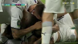 GOLO! Itália, N. Barella aos 31', Bélgica 0-1 Itália