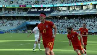 GOLO! Gales, K. Moore aos 74', Gales 1-1 Suíça