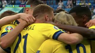 GOLO! Suécia, E. Forsberg aos 59', Suécia 2-0 Polónia